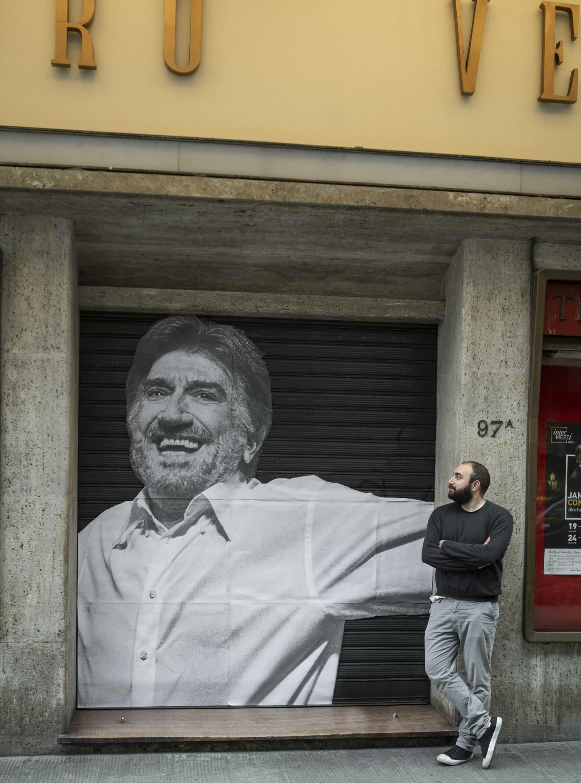 Gigi Proiettti al Teatro verdi e il fotografo Marco Borrelli