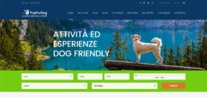 L'home page di TripForDog