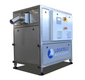 La macchina per produrre ghiaccio secco dell'azienda Locatelli