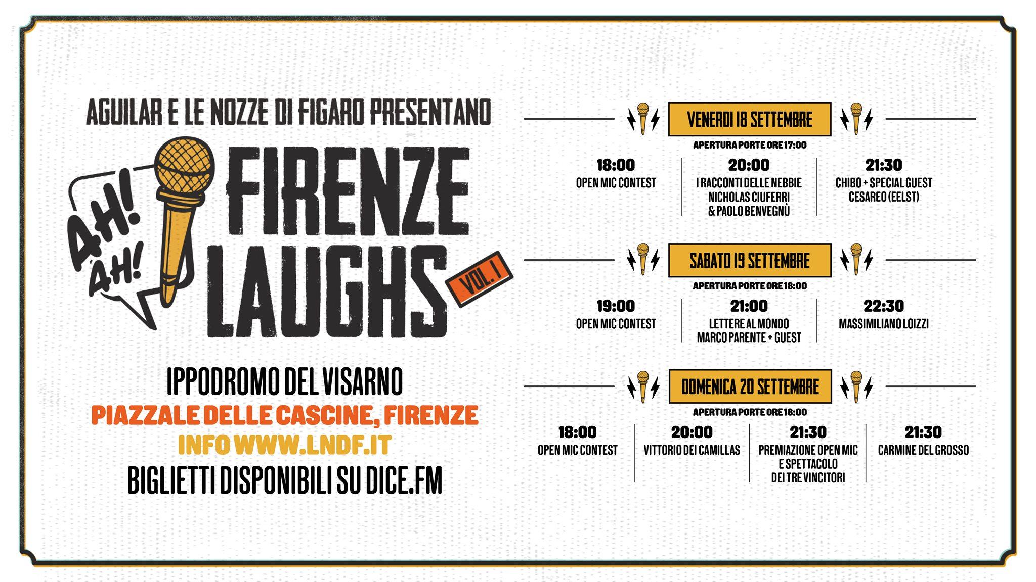 Firenze Laughs il programma giorno per giorno
