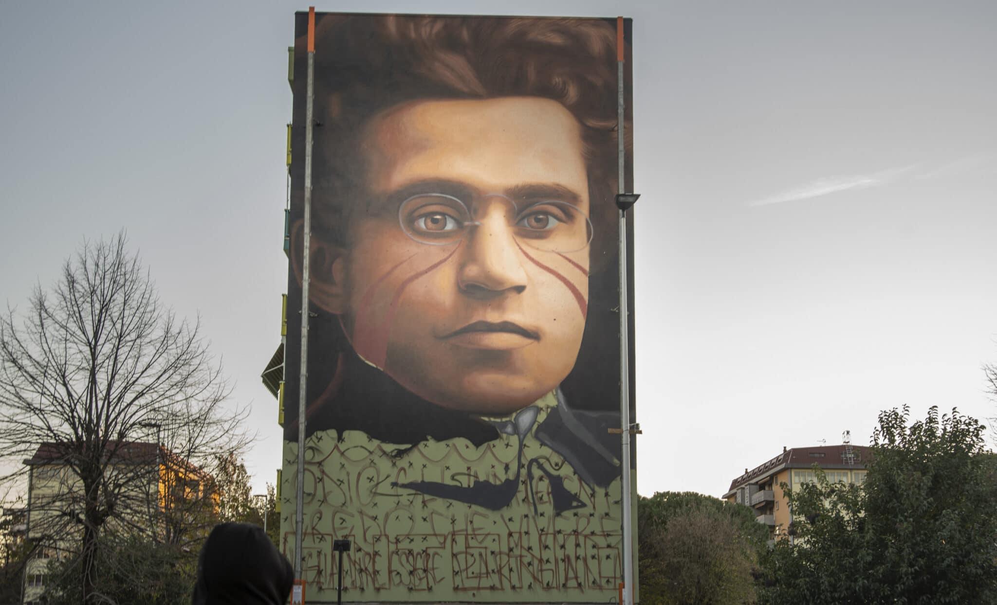 Gramsci a Firenze dipinto da Jorit