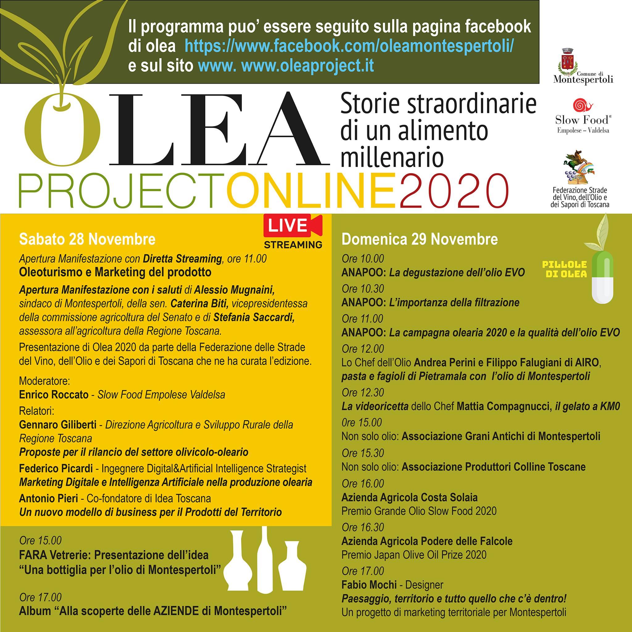 Programma di Olea 2020