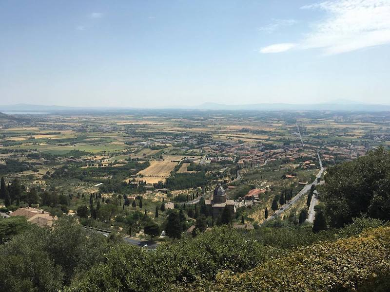 La Valdichiana vista da Cortona