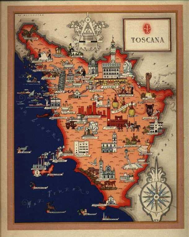 Www Cartina Toscana.Una Toscana Inedita Si Svela Nelle Cartine Delll Istituto Militare Intoscana