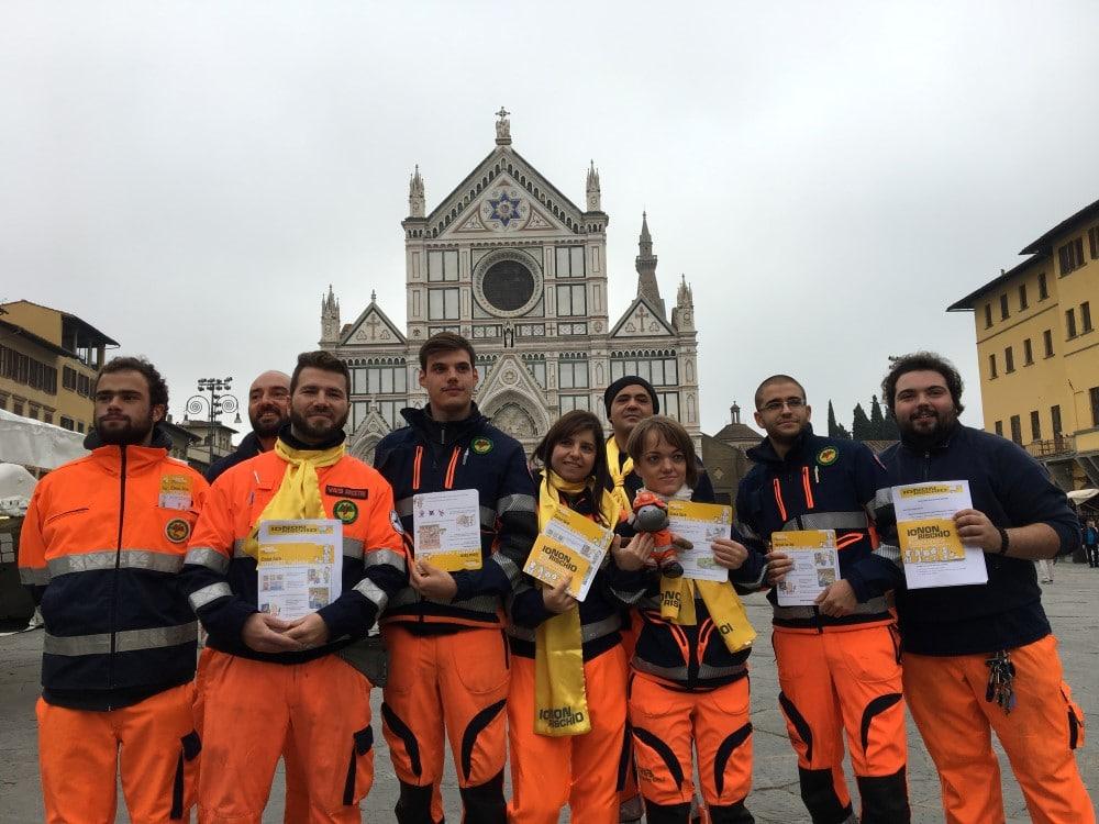 Io Non Rischio - I volontari in Piazza Santa Croce