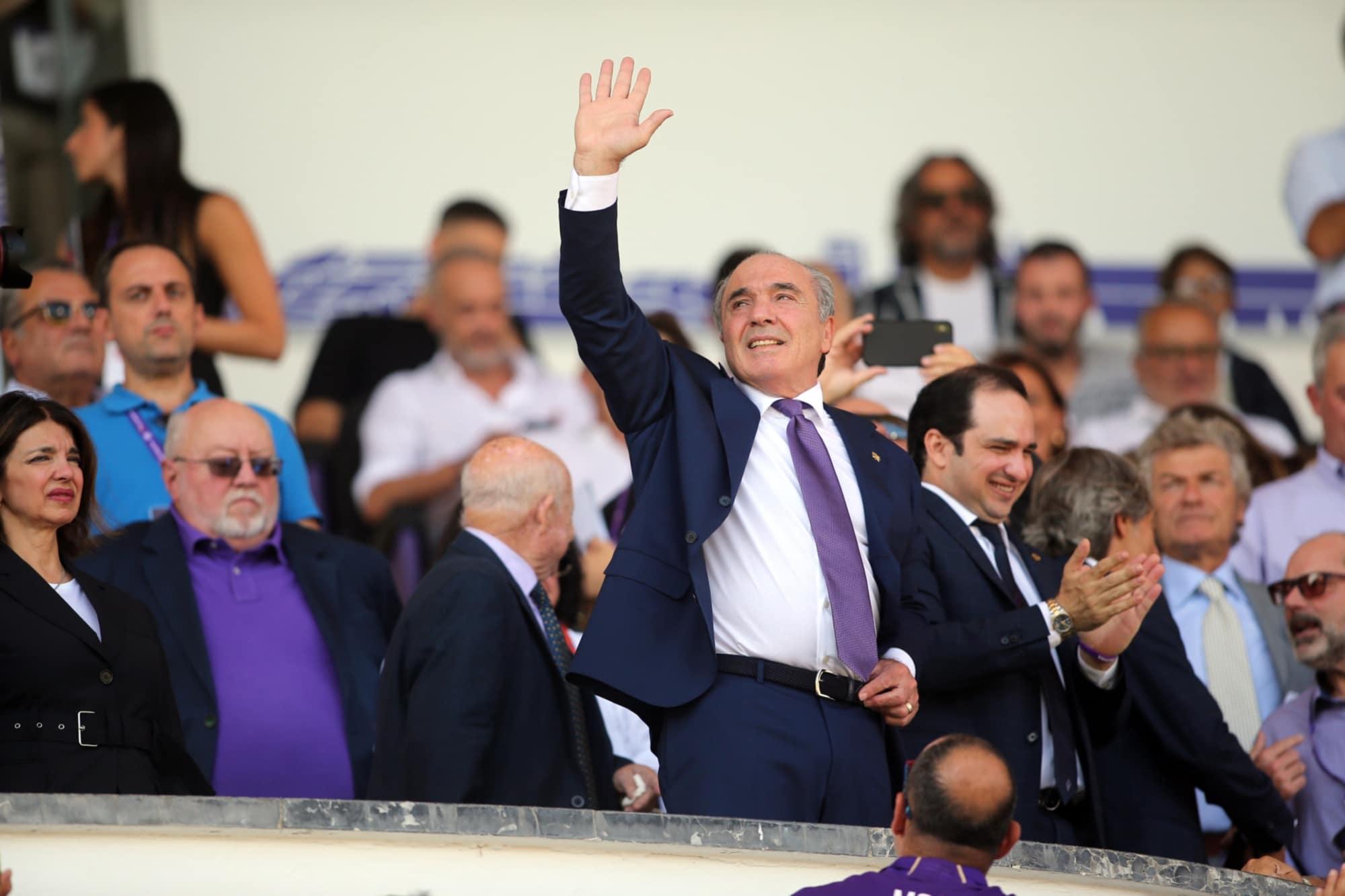 Il proprietario della Fiorentina Rocco Commisso al Franchi.